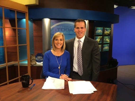 I got to be on the KDKA morning show for the Pittsburgh Marathon